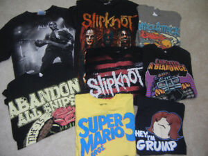 Boys size S/M t-shirts -bands etc.  8 for $10!