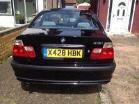 BMW 318i SE Black 2000 Reg Petrol Manual