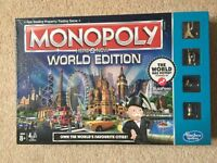 New Unopened Monopoly World Edition Boardgame