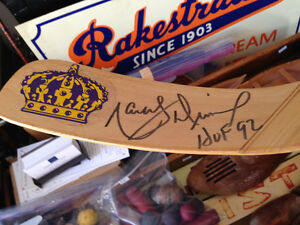 VINTAGE MARCEL DIONNE LOS ANGELES KINGS AUTOGRAPHED STICK