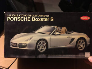 1/18 KYOSHO PORSCHE BOXSTER S , IN SILVER , NEW , 08381 AS
