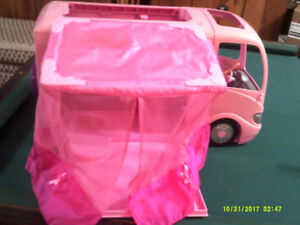 Barbie Van and two Barbie Dolls
