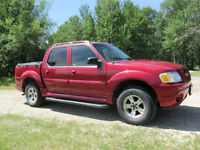 2005 Ford Explorer Sport Trac Red Pickup Truck