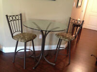 Glass Table and Chair set