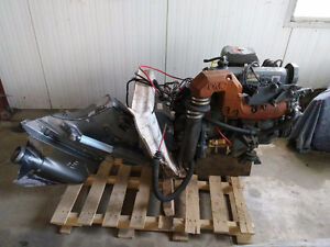 boat motor and fuel tank
