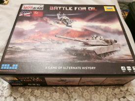 Board game battle for oil