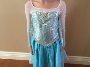 Elsa dress costume size 5-6 Disney store Hespler Frozen Cambridge Kitchener Area image 3