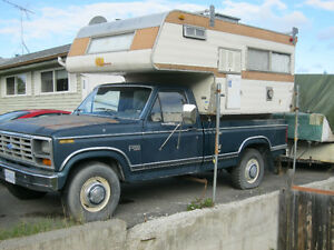 1983 Ford and CAMPER FOR SALE