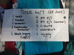 BAG OF SIZE 7 GIRLS CLOTHES!!