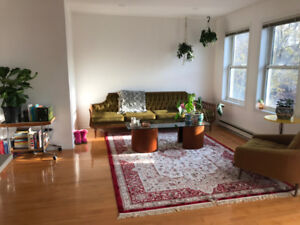 1 bdrm w/ balcony in 2 rm apt - bright, eclectic & modern space