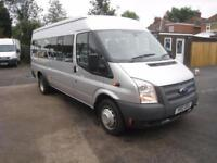 Ford TRANSIT 135ps 17 seat minibus ONLY 9000 MILES !!!!!!!!