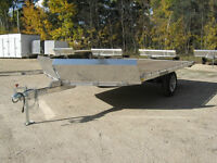 "2015 SLED TRAILER 12+V-nose x 102"" Aluminum"