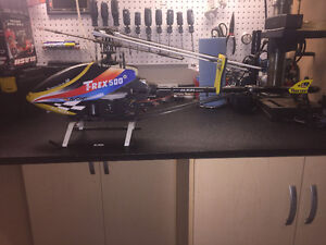 NEW never flown T-Rex 500 RC heli with radio, battery, charger