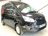 FORD TRANSIT CUSTOM TREND 125PS 290 L2H2 LWB LONG WHEELBASE HIGH ROOF BLACK