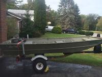 12 ft Lund Jon Boat w/ trailer
