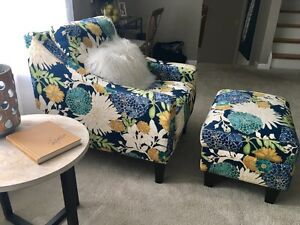 Country Time Chair and Ottoman