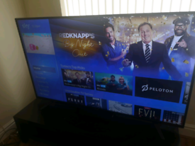 """65"""" SHARP 4K ULTRA HD SMART TV AND SKYBOX, TV TABLE ALL FOR"""