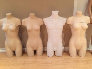 Male and Female torso mannequins