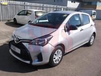 2015 Toyota Yaris Active VVT-I 1.0 DAMAGED REPAIRABLE SALVAGE
