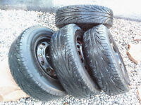 Michelin HydroEdge 185/70 R14 Like new INCL RIMS