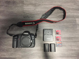 Canon 5D Mark II (2 batteries + charger + 3x CF cards)