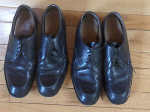 Two pair steel toe oil resistant work shoes, black $15 for all