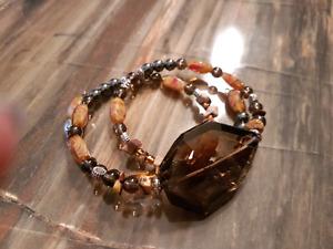 Infinity bracelet of healing stones