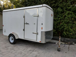 2013 Cargo trailer 6x12 enclosed with ramp door, single axle.