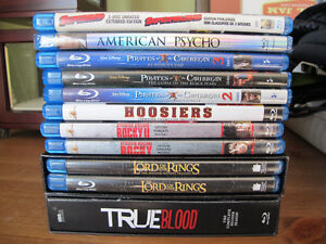 Set of Blu-ray movies