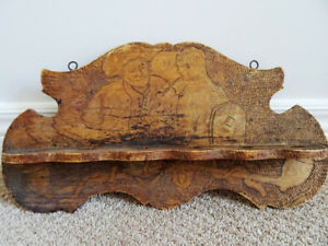 chip carved PIPE HOLDER Churchwarden Colonial HANGING PIPE RACK