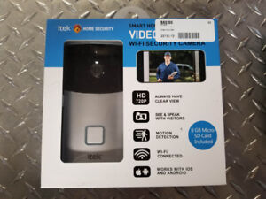 ITEC - Video Doorbell (WiFi Security Camera) - Brand New