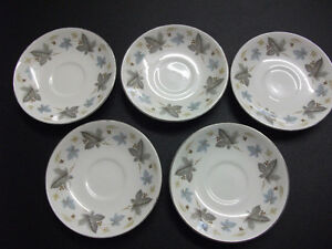 "Ridgway ""White Mist"" saucers set of 8"