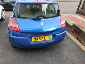 Renault Megane vvt mk2 2007 spares or repairs