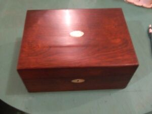 ANTIQUE 1800S ROSEWOOD BOX
