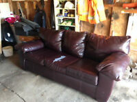 leather couch for sale- approx. 7 years old