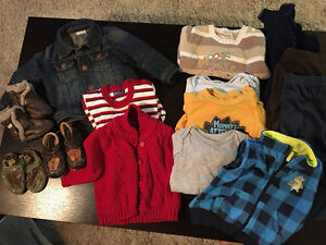 9 month lot incl. jean jacket and Robeez