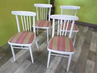 4 Reupholstered Chairs - Can Deliver For £19