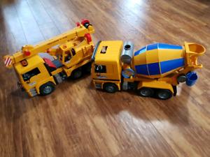 Two bruder  trucks