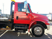 2006 International 4300 DT466 21 foot Flatbed Tow Truck