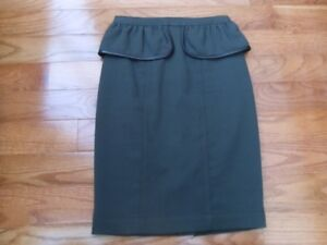 Authentic Burberry Peplum skirt with leather trim size 2