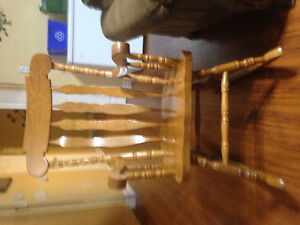 Solid oak rocking chair