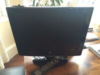 19 inch LCD TV with built in DVD & IPhone docking station