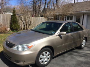 2002 Toyota Camry LE  Private Sale by Original Owner. 145,450km