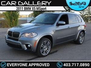 2011 BMW X5 MSport 7 Pass w/Leather, DVD, 360 Cam, PanoRoof $269