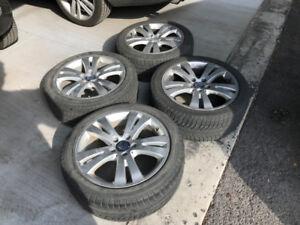 Mercedes mag roue 17 pouces original sur pneus hiver michelin