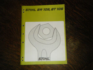 Stihl BR 106, BT 106 Blower and Earth auger Service Manual