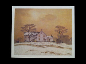 """A.J. Casson """"Farm House"""" Lithograph appraised at $800 London Ontario image 5"""