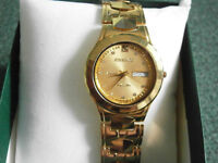 EXCELLENT SWISS WATCH WITH DATE/DAYS ANTI SCRATCH CRYSTAL
