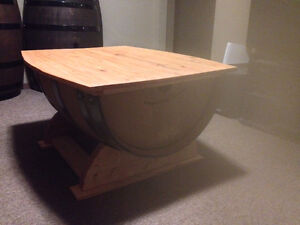 OAK WINE BARREL COFFEE TABLE, END TABLES, WINE RACK Peterborough Peterborough Area image 8