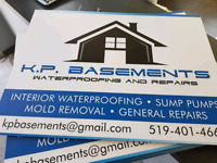 KP Basements Interior Waterproofing